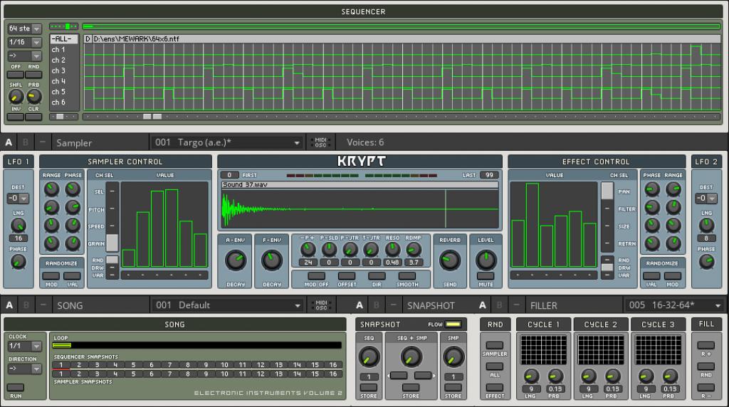 Krypt minimal house drums sequencer